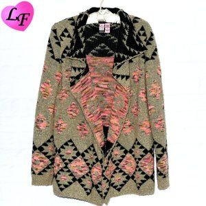 LOVE ON A HANGER Open Front Aztec Cardigan Size Sm